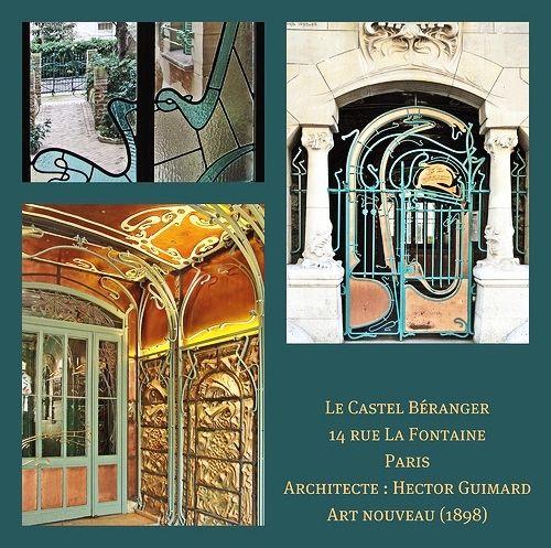 Le Castel Béranger entrance door, 14 rue la Fontaine