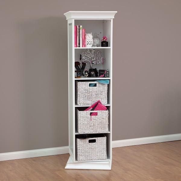 Display It Rotating Swivel Storage Mirror And Bookcase Main