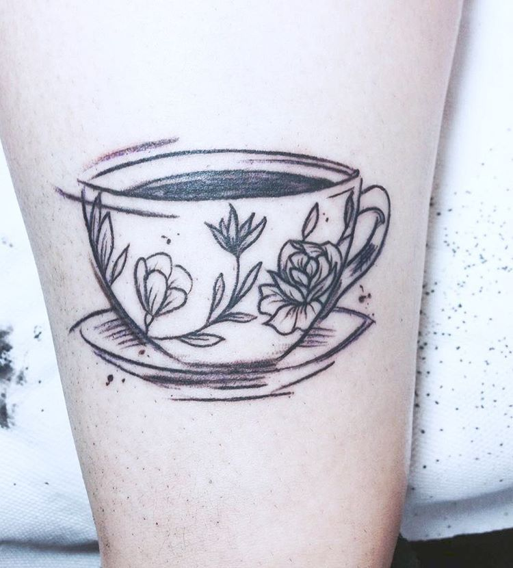 Teacup Tattoo Coffee Tattoos: Needs A Teabag String Hanging Out And Then All Set!
