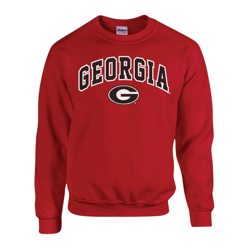 Georgia Bulldogs Crewneck Sweatshirt Red Sweatshirts Crew Neck Sweatshirt Mens Crewneck Sweatshirt [ 1000 x 1000 Pixel ]