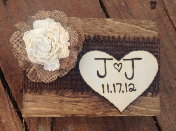 Shabby Chic Ring Bearer Box Rustic Wedding by CountryBarnBabe, $30.00