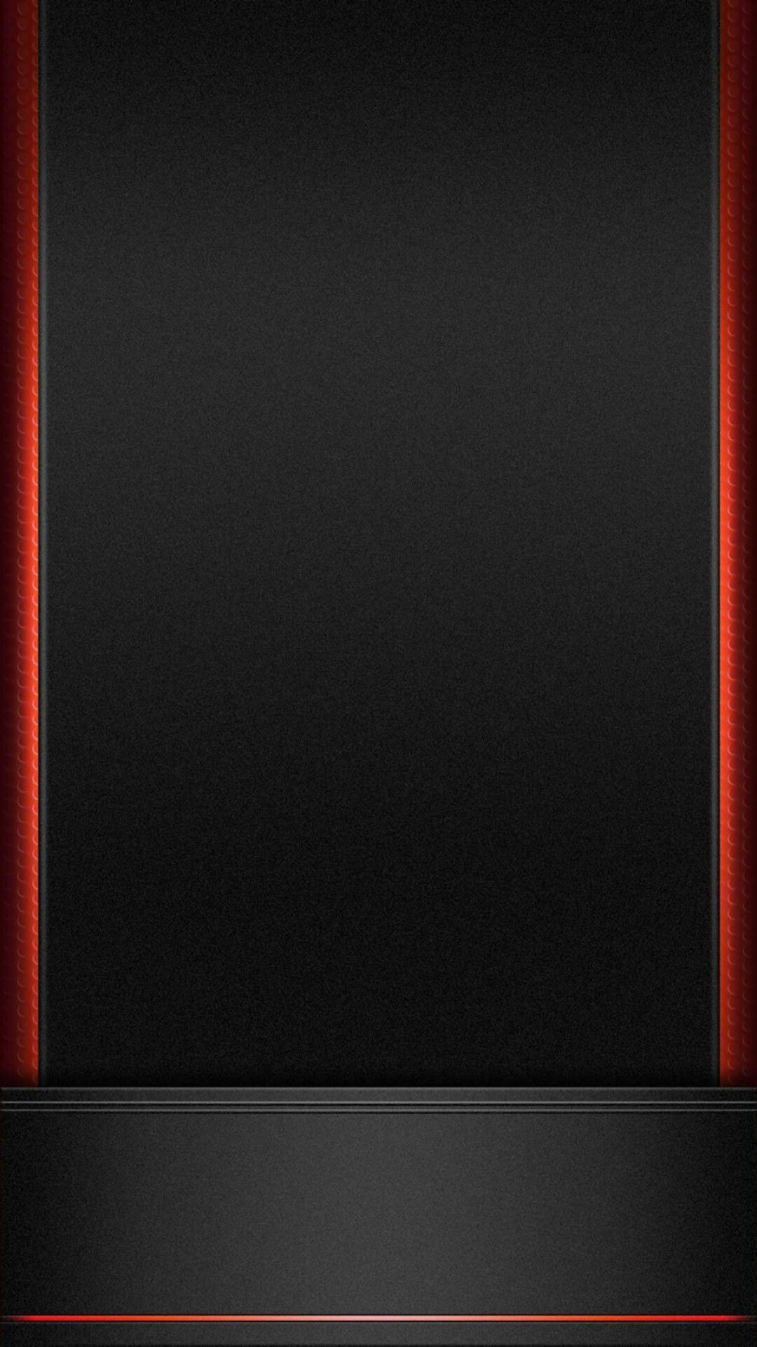 Wallpaper iphone black red - Black With Red Trim Wallpaper
