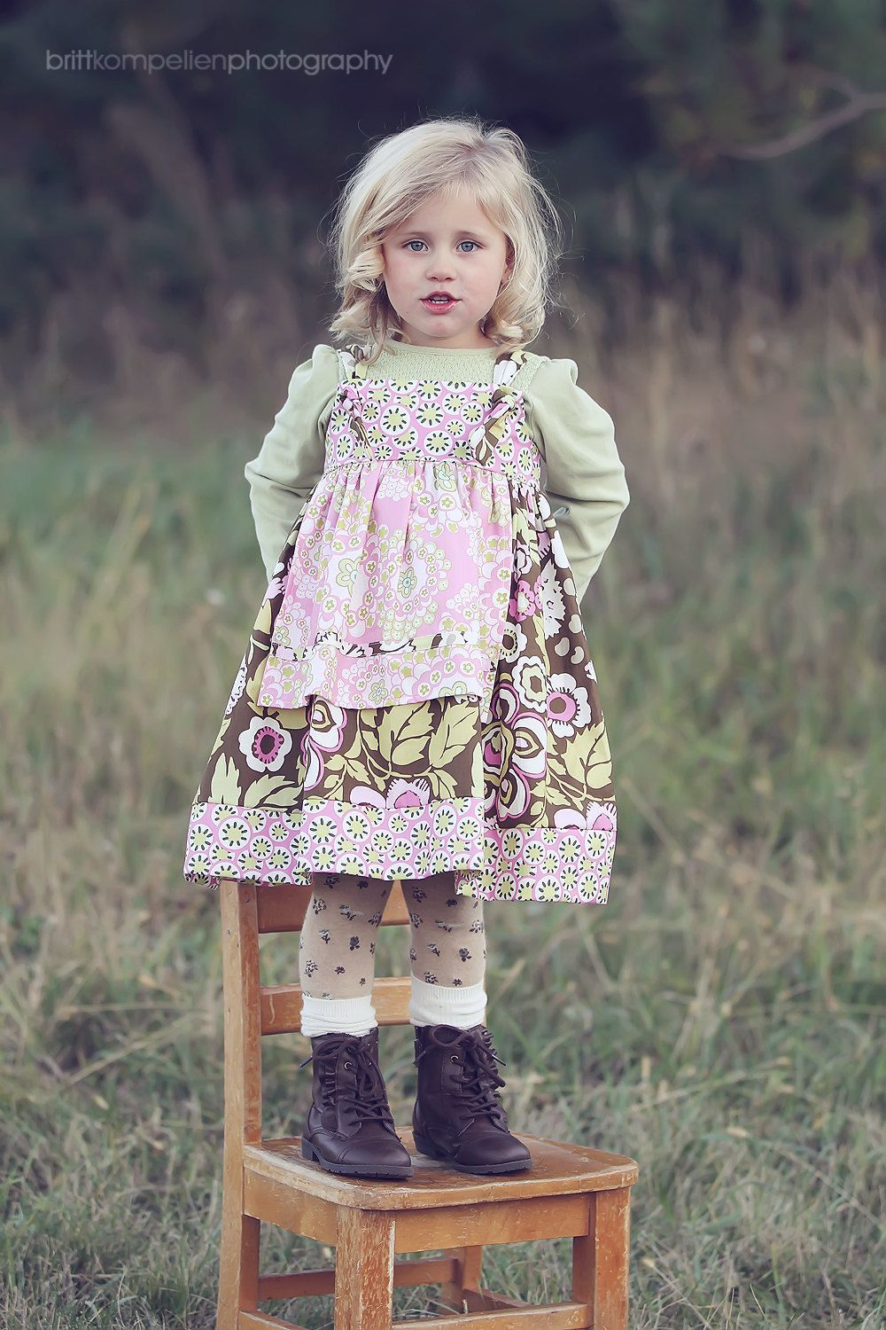 Molly Girls Knot Dress with Pink Apron, Baby Toddler Girls ...