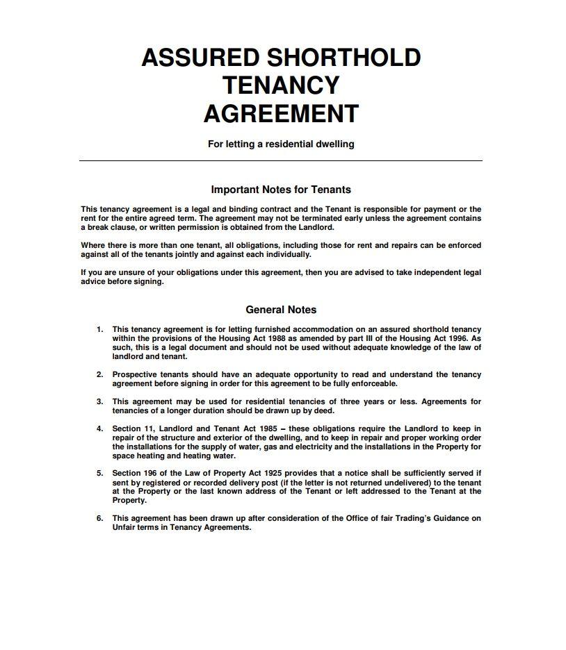 Tenancy Agreement Template Ideal Wonderful Shorthold Tenancy Agreement Template S Ze M57561 E Tenancy Agreement Being A Landlord Rental Agreement Templates