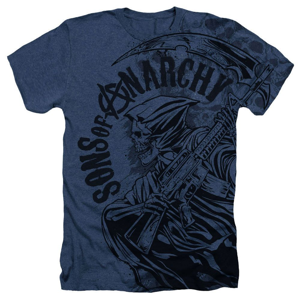 SPIRAL DIRECT JAX SKULLT-SHIRT Sons of Anarchy//Redwood Samcro//Skull//Gun//SOA//Top