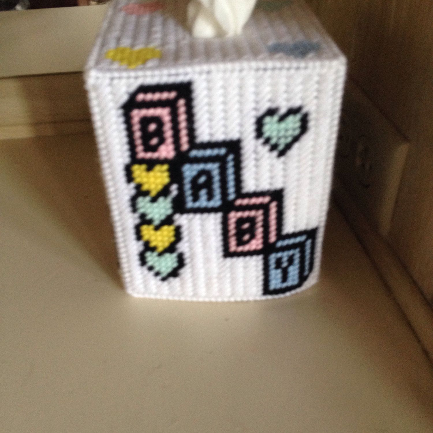 A personal favorite from my Etsy shop https://www.etsy.com/listing/511069909/beautiful-baby-tissue-box-cover
