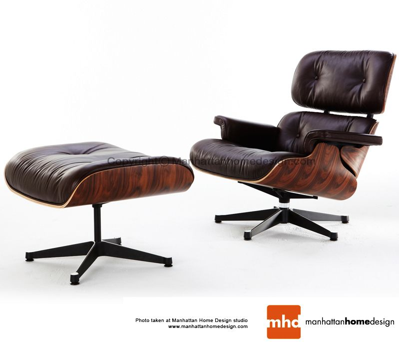 Classic Lounge Chair Ottoman Black Eames Style Lounge Chair