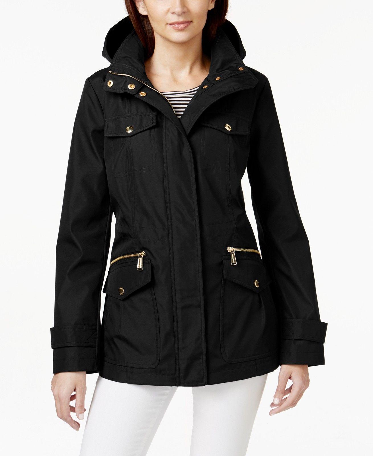 44df8a00fe4 MICHAEL Michael Kors Petite Hooded Anorak Women s Jacket Pre-owned MSRP  180