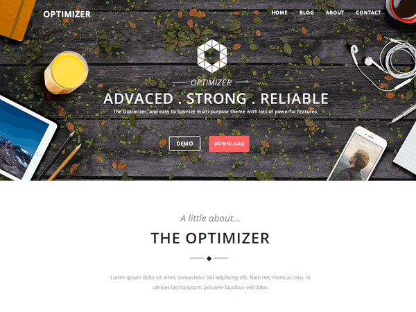 Optimizer — Free WordPress Themes | WP Free | Pinterest | Tema de ...