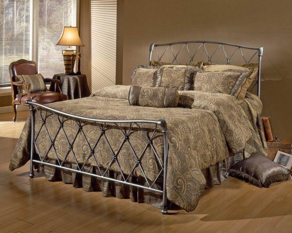 king size metal bed frame walmart Tempat tidur, Tidur, Besi