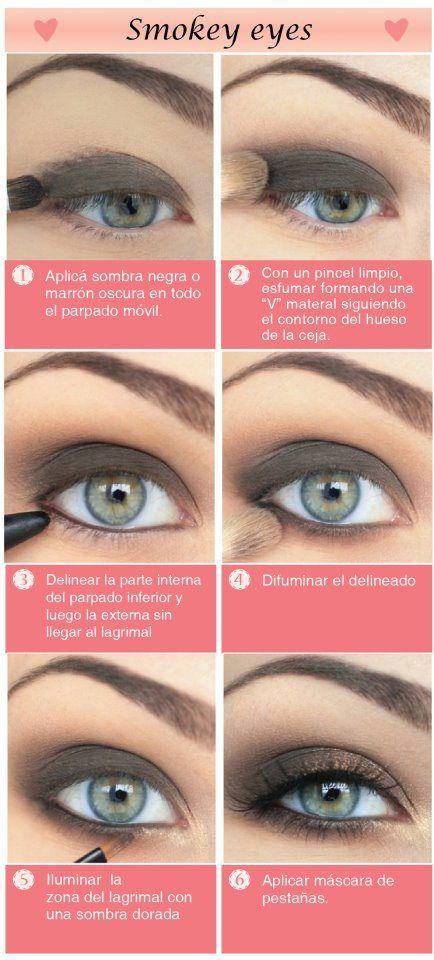 Smoky eyes (paso a paso) Maquillaje, Ojos y Maquillaje de ojos