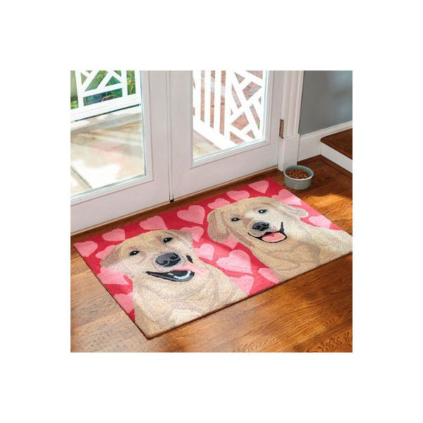"Grandin Road Puppy Love Entry Mat - Black Labs Red, 30"" X 48"" ($89) ❤ liked on Polyvore featuring home, outdoors, outdoor decor, indoor/outdoor doormat, dog door mat, dog mat, grandin road and indoor outdoor mats"