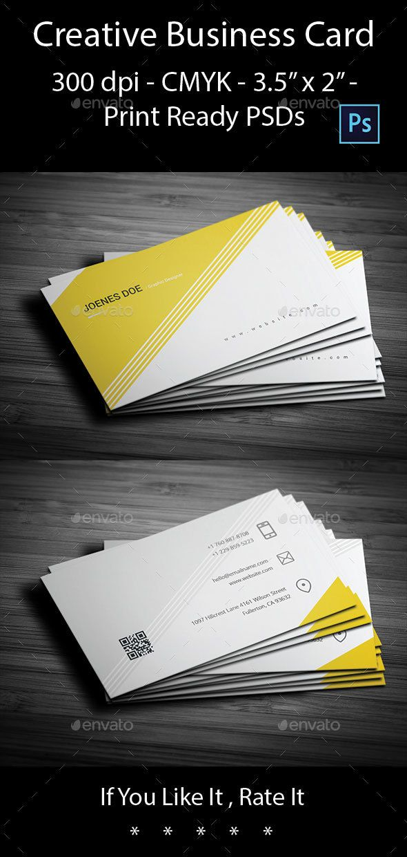 Creative Business Card | Business cards, Card templates and Business