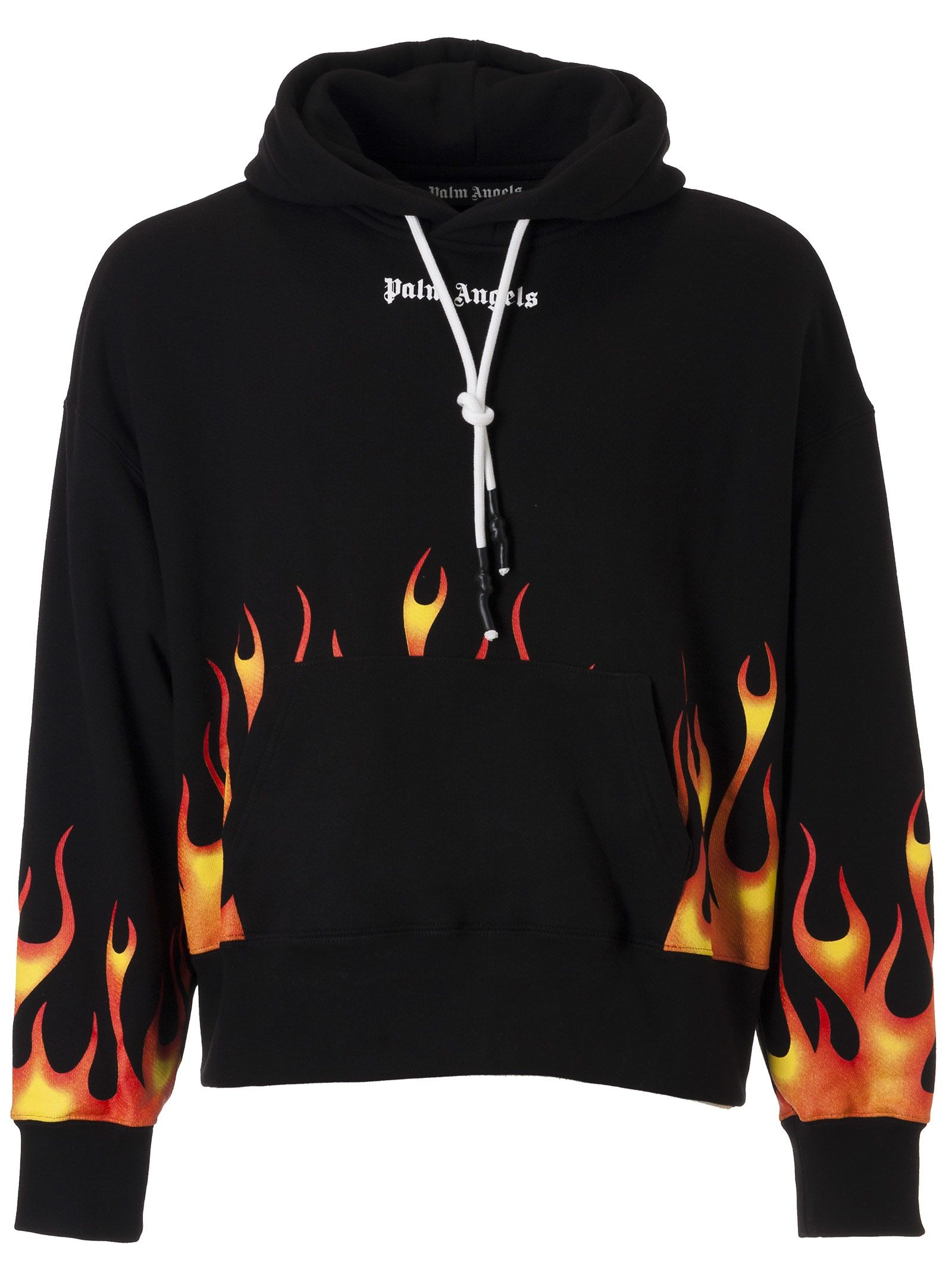 Best Price On The Market At Italist Palm Angels Palm Angels Flames Printed Hoodie Hoodie Print Hoodies Mens Outdoor Clothing [ 2136 x 1600 Pixel ]