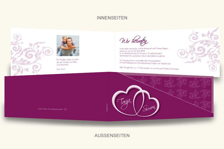 Druckkarten Com Hochzeitskarten Online Gestalten Und Drucken