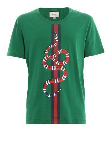 GUCCI Gucci Web Snake Printed.  gucci  cloth  topwear  f69083a47df