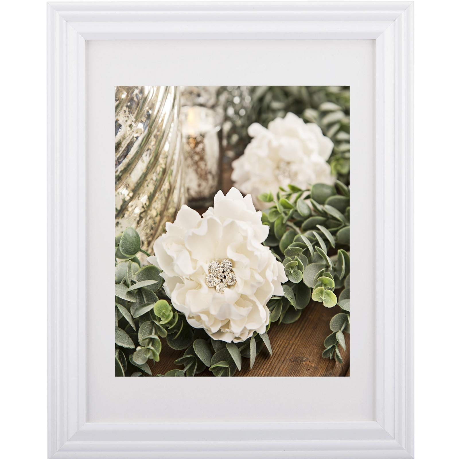 Studio Decor 10 X 13 Wall Picture Frame With White Mat 8 X 10 White In 2020