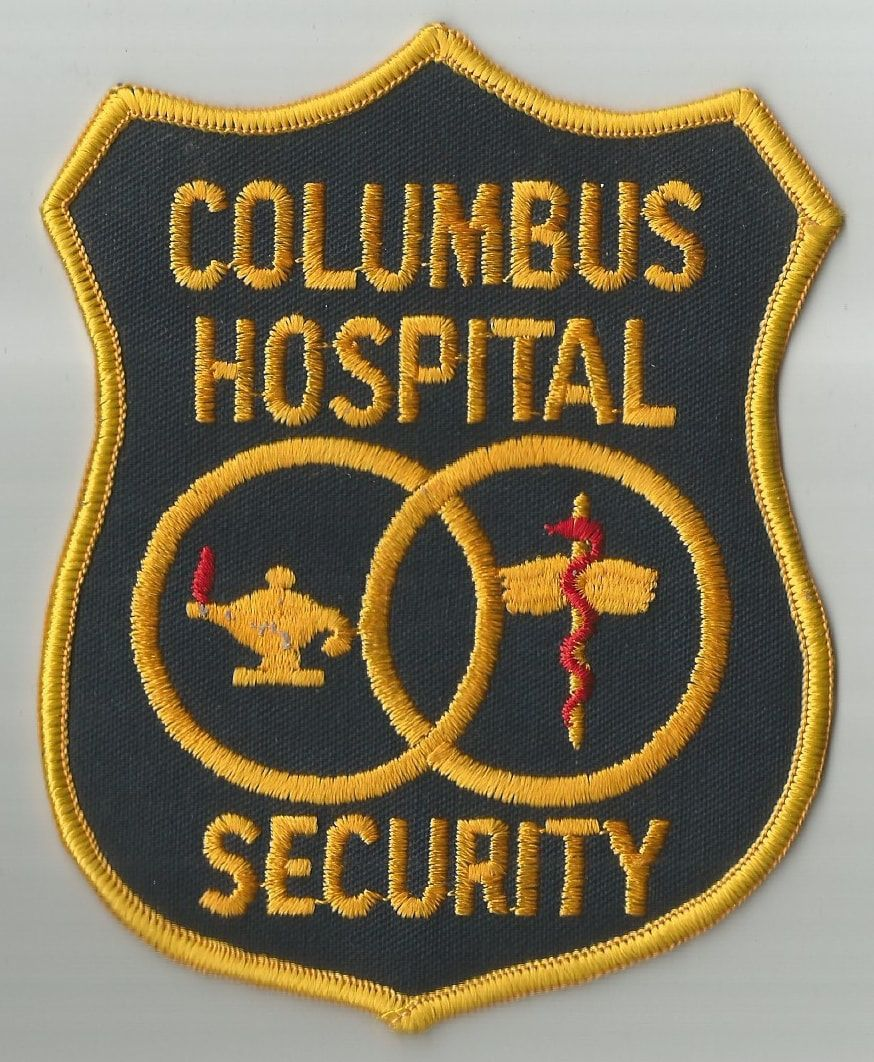 Columbus Hospital Security Department Patch Ohio Security Badge Police Patches Hospital