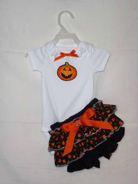 Boutique Onsie Ruffled Bloomer outfit  Halloween by SedonaStyle, $32.00
