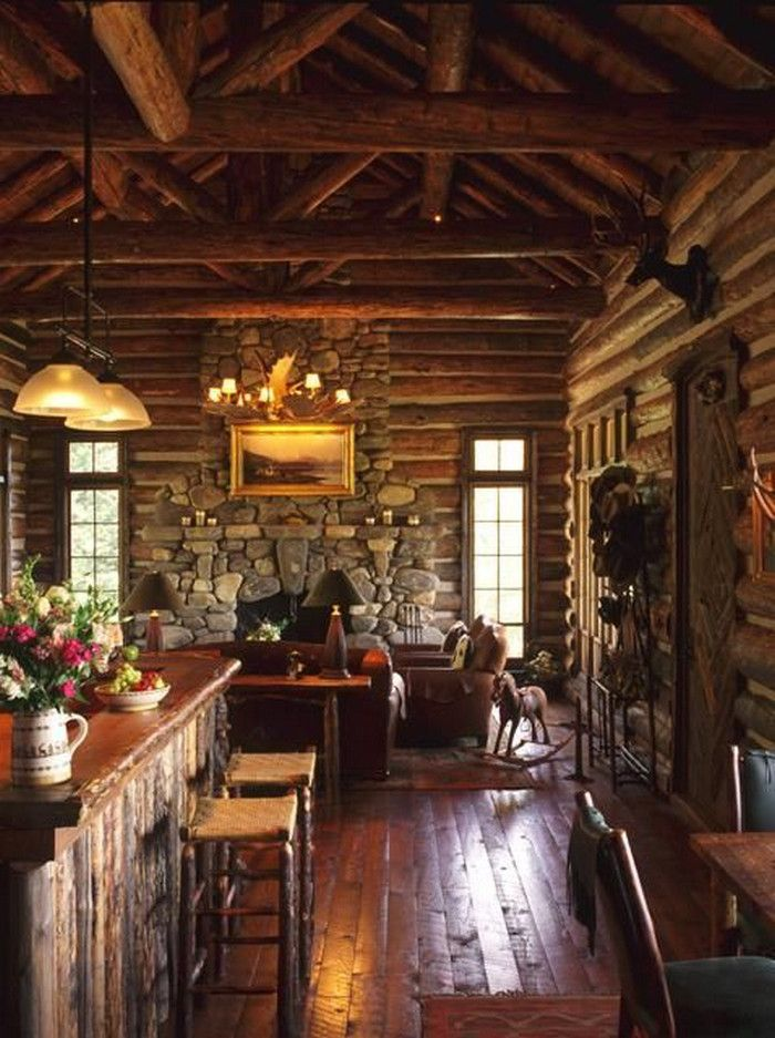all i need is a little cabin in the woods 34 photos - Log Homes Interior Designs