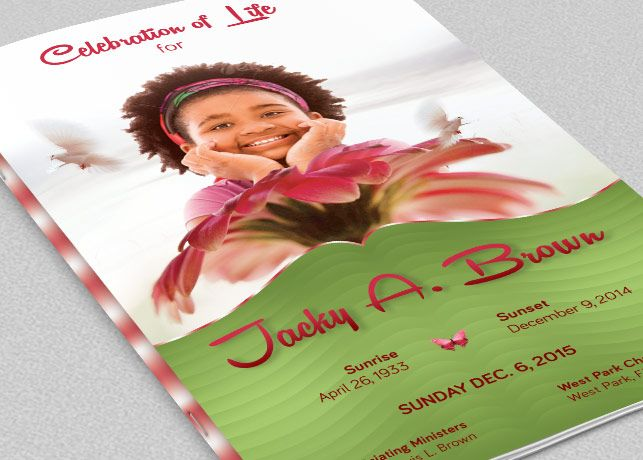 Child Funeral Program Template Is For Children Memorial Or Funeral
