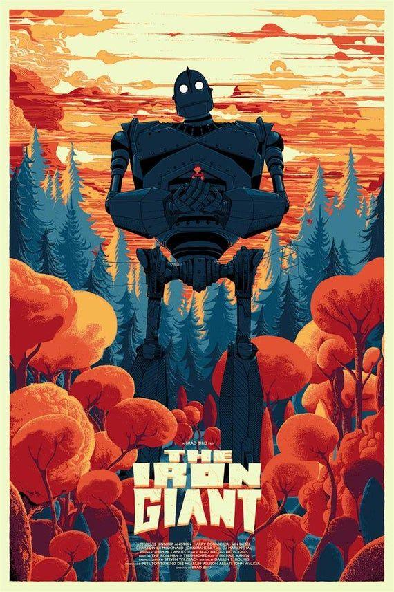 "THE IRON GIANT Movie Silk Art Poster Prints - Size:11X17 13x20"" 24x36 27x40  32X48 -No Frame #filmposters"