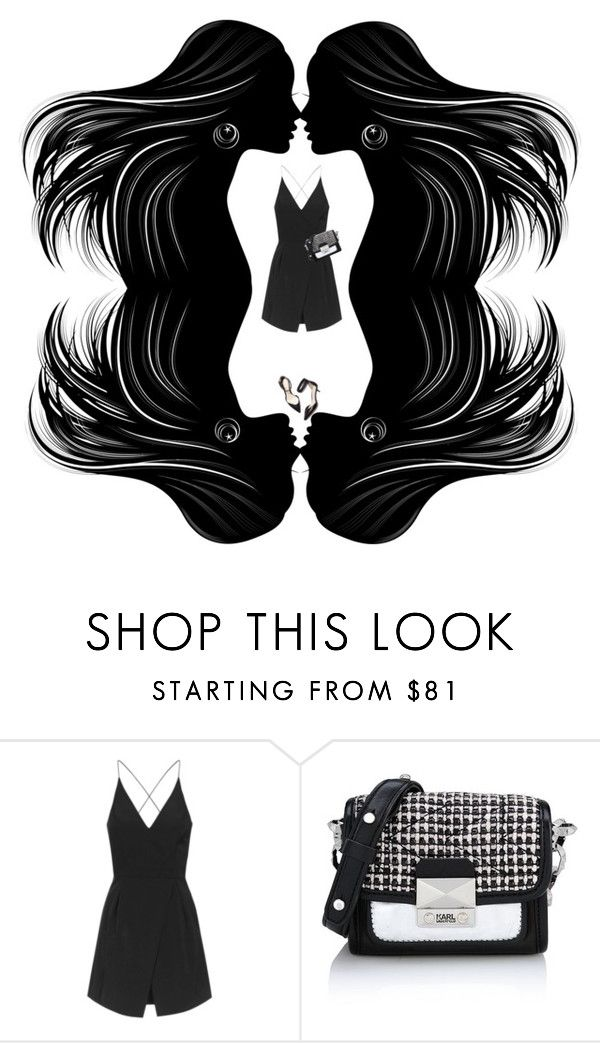 """Black & White Speck"" by petalp ❤ liked on Polyvore featuring Topshop, 3.1 Phillip Lim and Karl Lagerfeld"