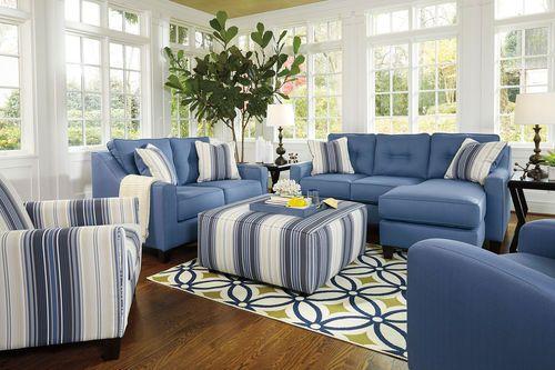 Best Aldie Nuvella Blue Sofa Chaise Loveseat Ayanna Nuvella 400 x 300