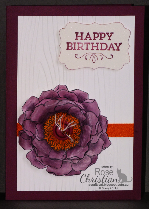 A Crafty Cat: Stampin' Up! Blended Bloom, paper shaping x Rose Christian