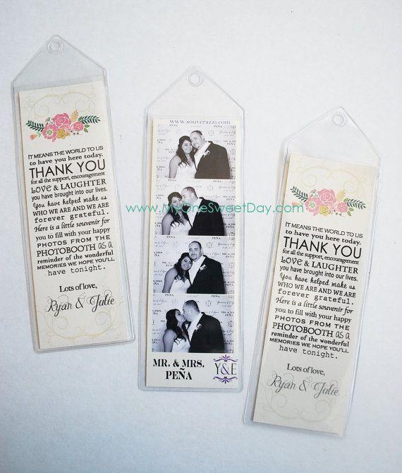 2x6 Photo Strip Bookmark Photo Booth Party Favor Wedding Extras