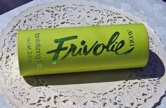 Viintage Avon Frivolie Tantalizing Lemon Lime Talc by