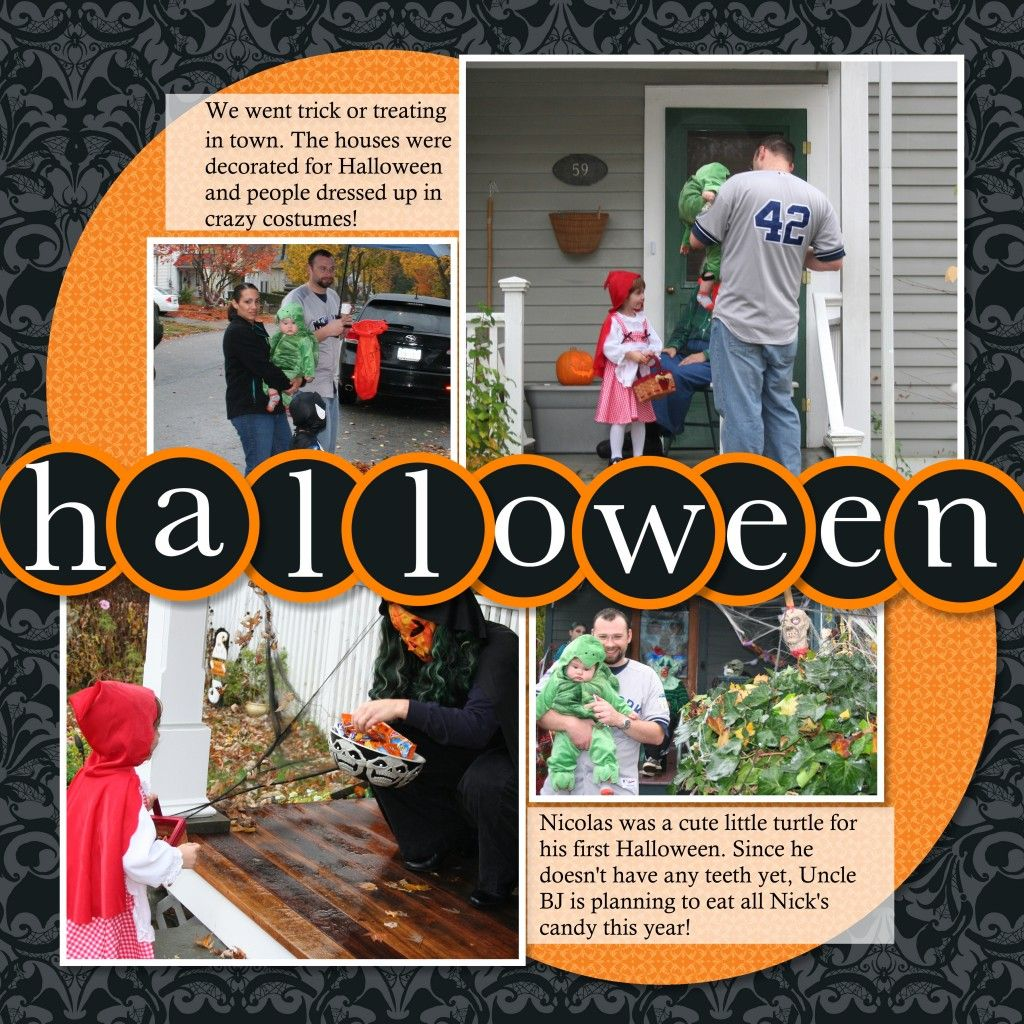 Scrapbook ideas graduation - Halloween Scrapbook Pages Creative Cucina