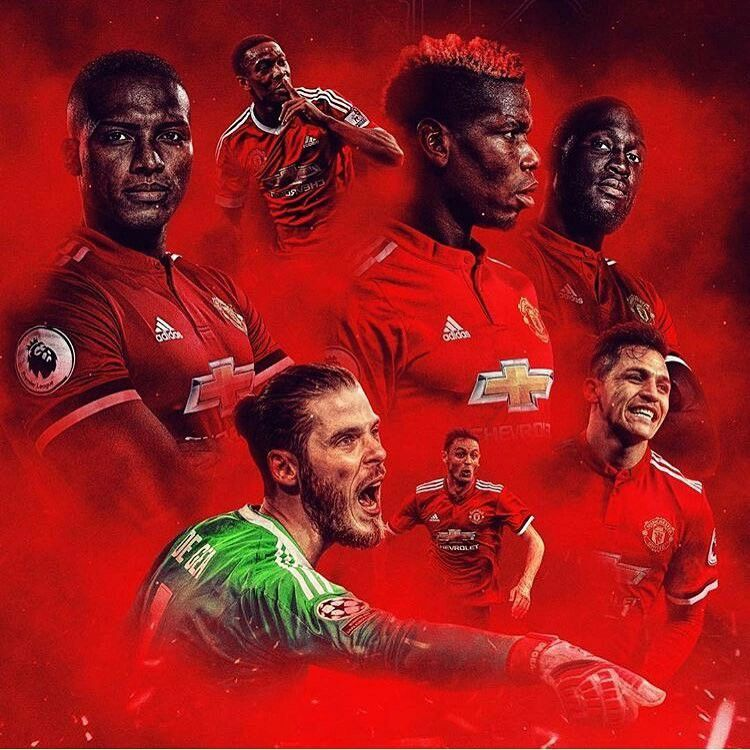 Manchester United Player Collage 2018 Manchester United Players Manchester United Wallpaper Manchester United Football Club