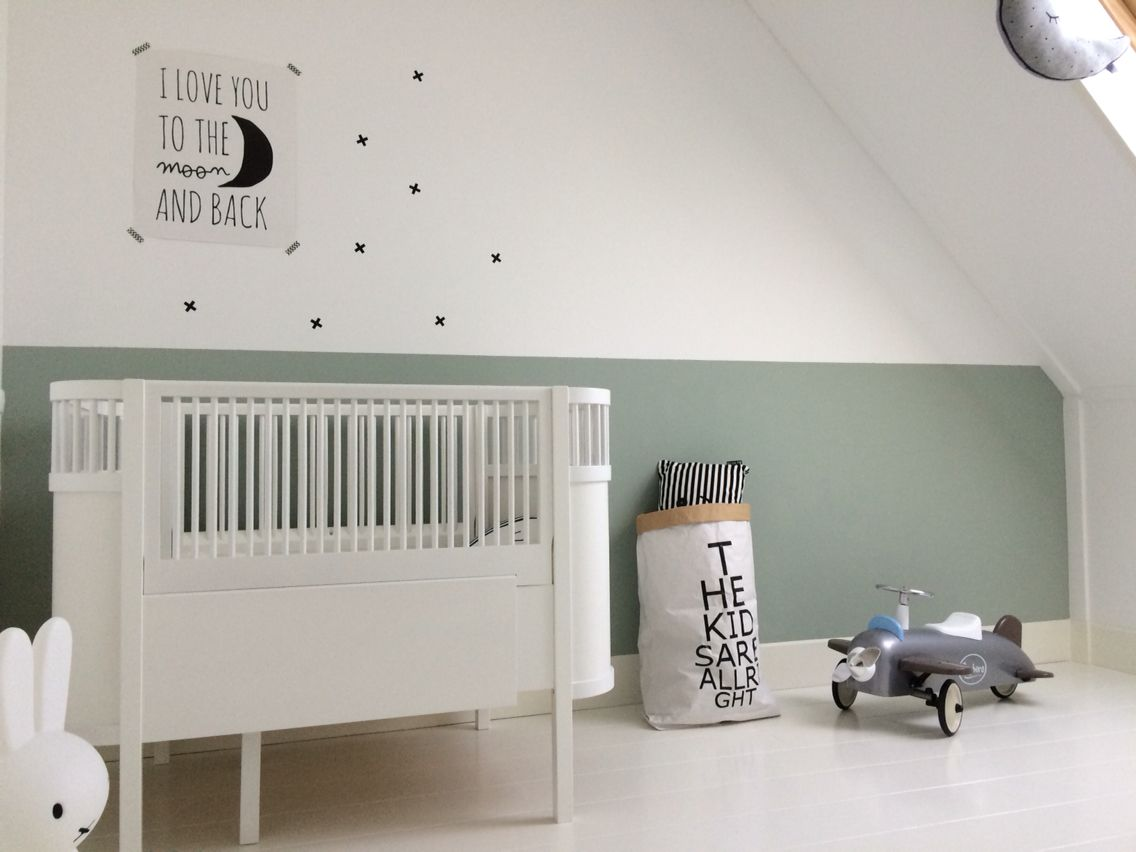 Coole Letters Babykamer : Babykamer babyroom kleur earlydew flexa bed sebra kili