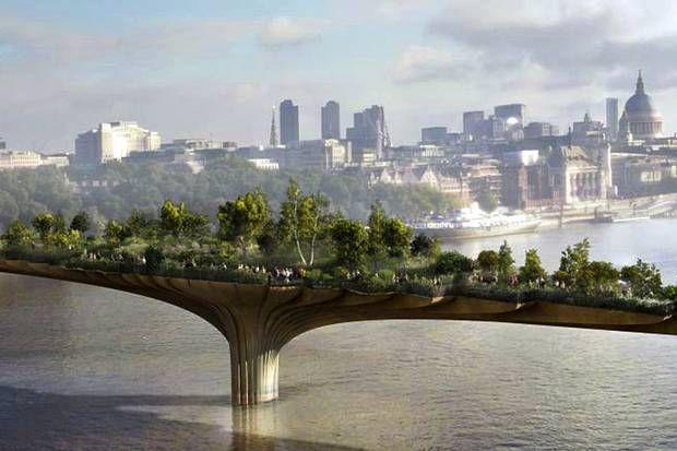 George Osborne Urged To Make Thames Garden Bridge Vat Free Politics News London Evening Standard Garden Bridge London Garden Bridge Project Garden Bridge