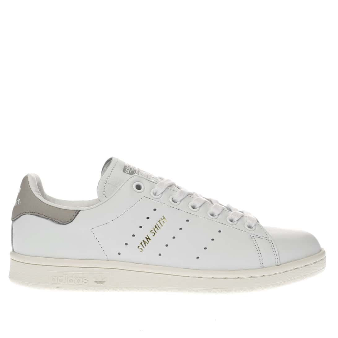 womens white \u0026 grey adidas stan smith trainers | schuh