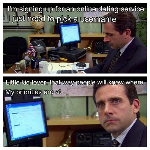 Michael Scott gets an online dating profile