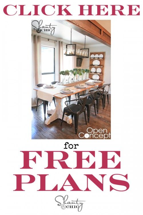 Free Room Design Tool: HGTV Open Concept Dining Table Free Plans
