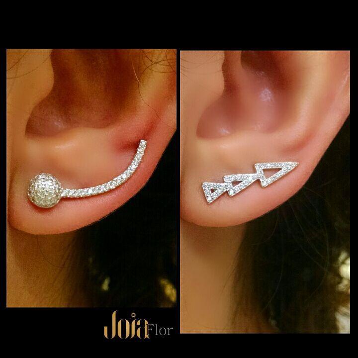 Dica! #earcuff #prata925 #joiasfashion #semijoiasfinas #semijoia #joiaflor #fashionjewelry #fashion #instagood