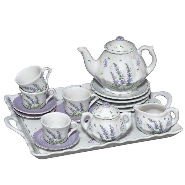 andrea by sadek lavender porcelain child 39 s tea set for four for the girls in 2019 pinterest. Black Bedroom Furniture Sets. Home Design Ideas