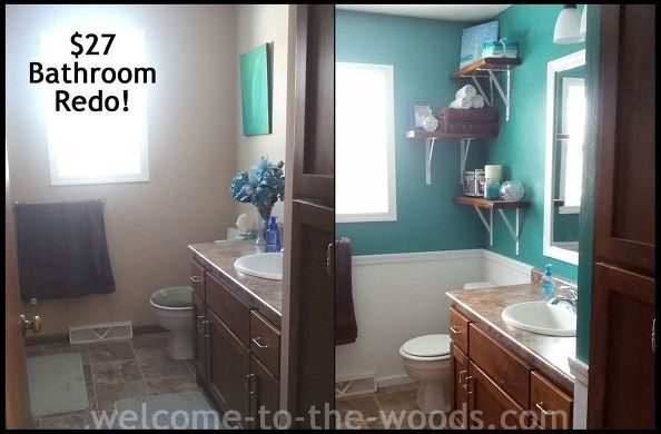 This bathroom received a mini makeover for only $27.00