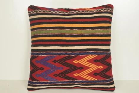 Afghan Kilim Wool Rug Pillow B01762 20x20 Cheap Sale Old Rug Pillow Wool Rug Kilim Fabric