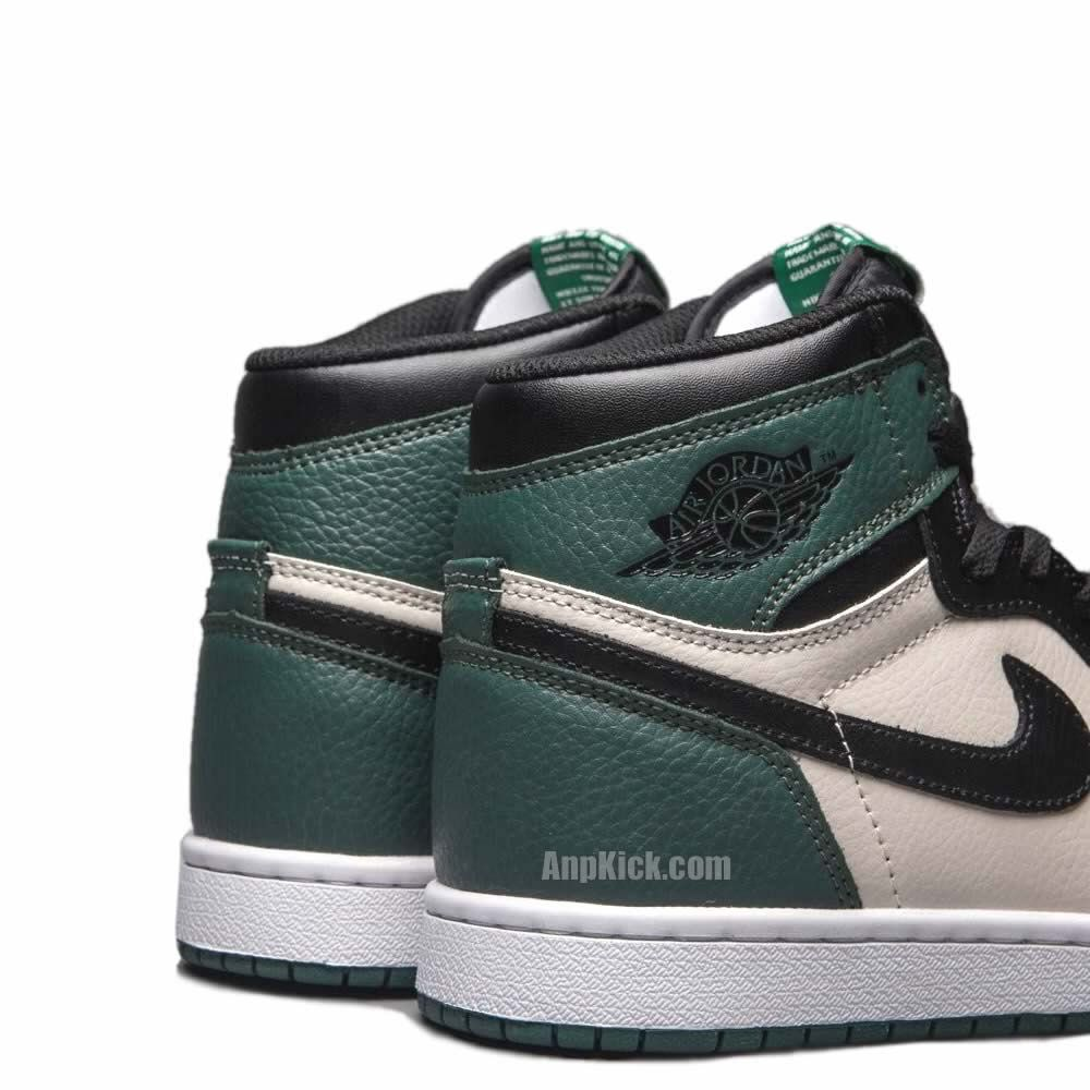 Air Jordan 1 Retro High OG Pine Green Shoes 555088 302 Heel - AnpKick.com fc376749a