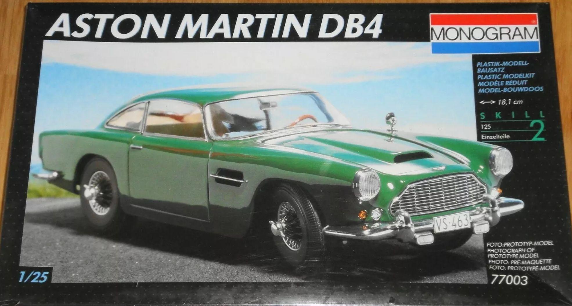 Pin By Tim On Model Kit Boxes Revell Monogram Models Aston Martin Db4 Model Kit