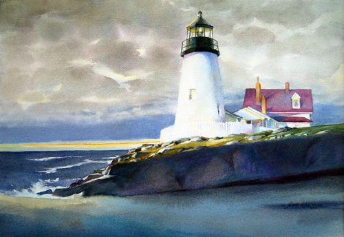 Jeannedobie Com Original Paintings Page 2 Watercolor Sky Water Painting Marine Landscape
