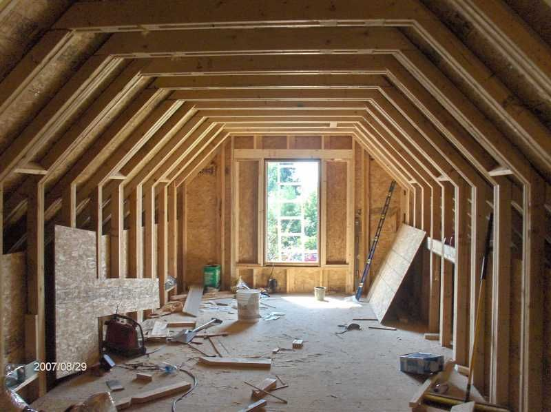 Find This Pin And More On My Attic. Trusses Gambrel Room ...