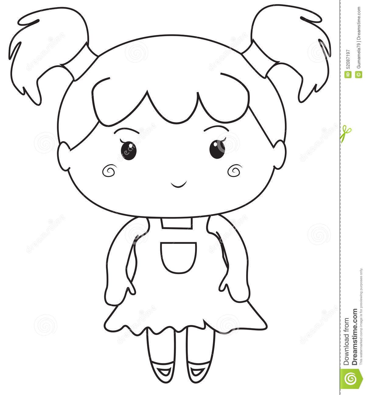 Little girl coloring pages little girl coloring page stock for Little girls coloring pages