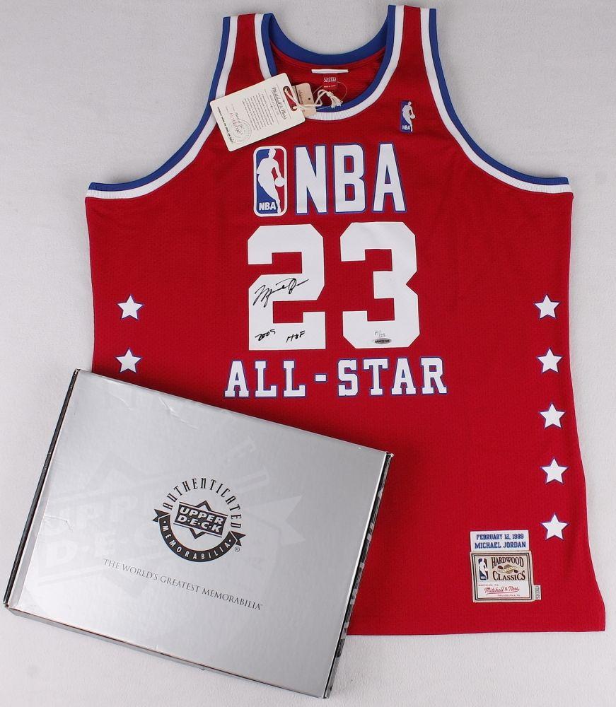 7dd5f436c37 Michael Jordan Signed Bulls LE 1989 All-Star Game Jersey Inscribed
