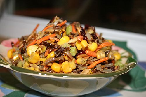 Wild rice and roasted corn salad