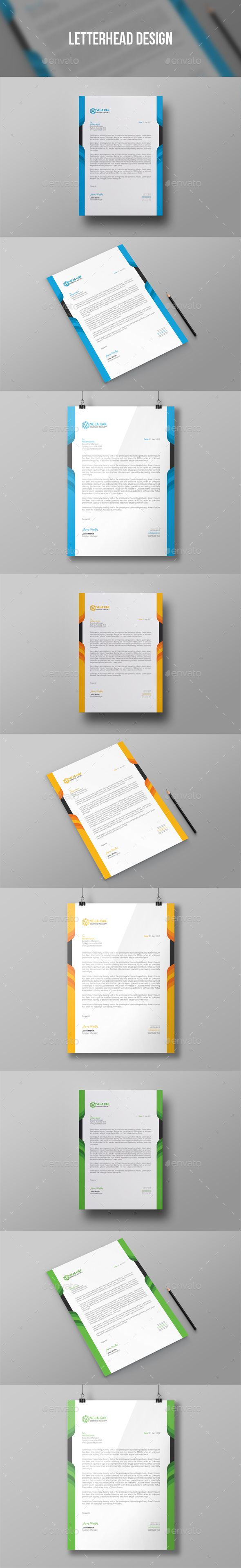 letterhead design stationery print templates download here httpsgraphicrivernetitemletterhead design19379549refalena994